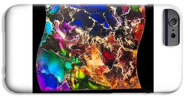 Paint Glass Art iPhone Cases - Gyspy Dance iPhone Case by Belle-Lyssa  Crawford