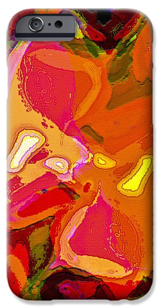 Abstract Digital Art iPhone Cases - Side View iPhone Case by  Fli Art