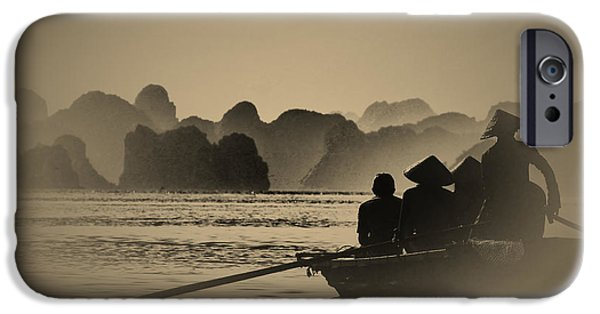 Silhoette iPhone Cases - Ha Long Bay iPhone Case by Jose Carlos Fernandes