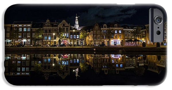 Nederland iPhone Cases - Haarlem Night iPhone Case by Chad Dutson