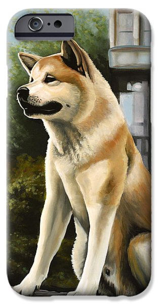 Huskies iPhone Cases - Hachi iPhone Case by Paul  Meijering