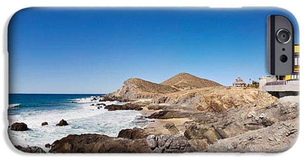 Baja iPhone Cases - Hacienda Cerritos On The Pacific Ocean iPhone Case by Panoramic Images