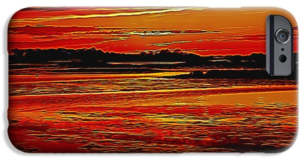 Turbulent Skies iPhone Cases - Hadean Twilight iPhone Case by John Bailey