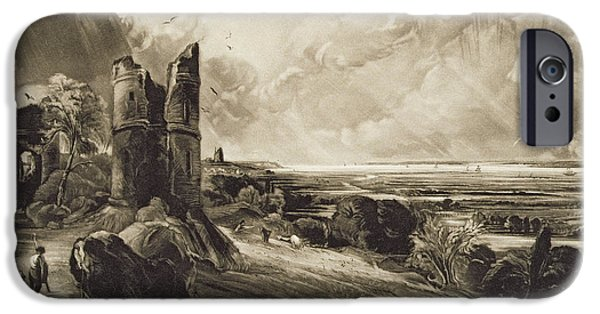 Ruin iPhone Cases - Hadleigh Castle, Engraved By David Lucas 1802-81 C.1832 Mezzotint With Etching iPhone Case by John Constable