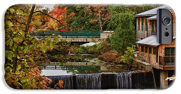 Grist Mill iPhone Cases - Hadley upper mill in autumn iPhone Case by Jeff Folger