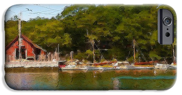 Cape Cod Mixed Media iPhone Cases - Hadleys Harbor iPhone Case by Michael Petrizzo
