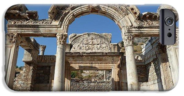 Ruin iPhone Cases - Hadrian Temple iPhone Case by Zori Minkova
