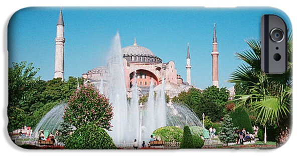 Byzantine iPhone Cases - Hagia Sofia Istanbul Turkey iPhone Case by Panoramic Images