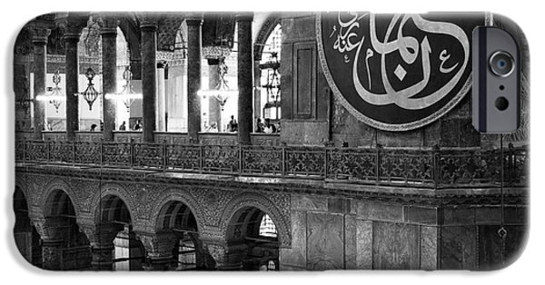 Istanbul iPhone Cases - Hagia Sophia Interior 03 iPhone Case by Rick Piper Photography