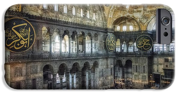 Buildings iPhone Cases - Hagia Sophia Interior iPhone Case by Joan Carroll