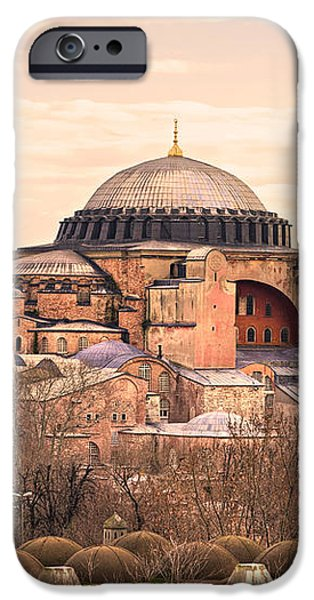 Hagia Sophia mosque - Istanbul iPhone Case by Luciano Mortula
