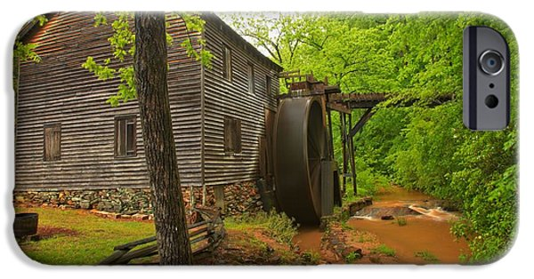 Grist Mill iPhone Cases - Hagood Grist Mill Creek iPhone Case by Adam Jewell