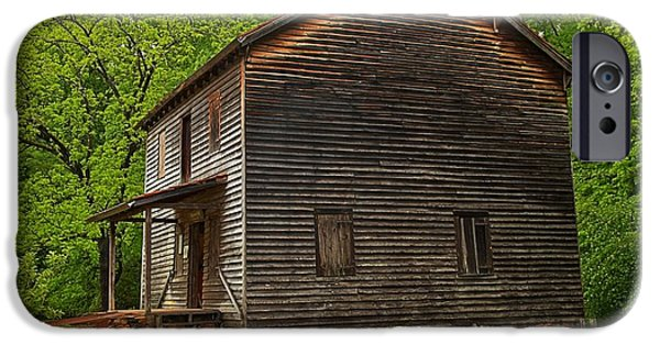 Grist Mill iPhone Cases - Hagood Mill South Carolina iPhone Case by Adam Jewell