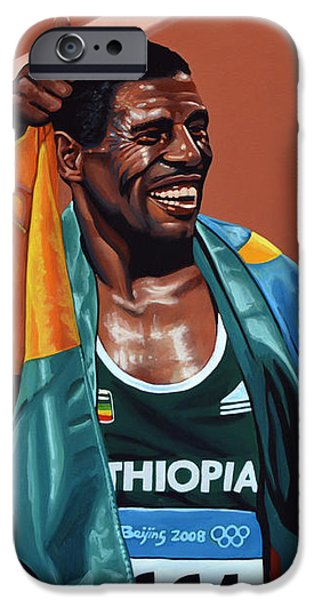 Running iPhone Cases - Haile Gebrselassie iPhone Case by Paul  Meijering