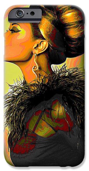 Gray Hair Digital iPhone Cases - Hair Bun iPhone Case by  Fli Art