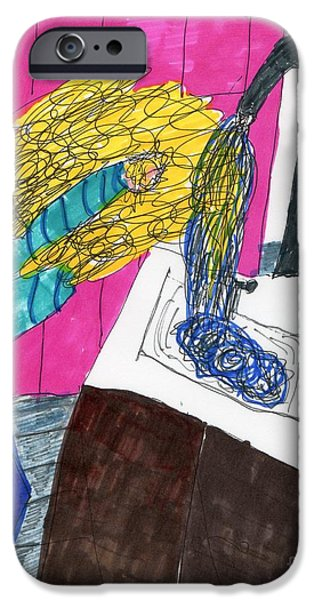 Hair Wash iPhone Case by Elinor Rakowski