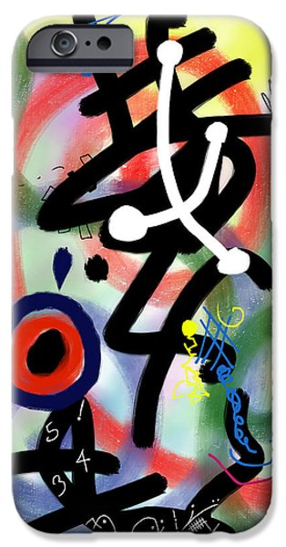 Abstract Digital Paintings iPhone Cases - HAL Out for Repairs iPhone Case by Alex Retivov
