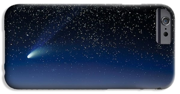 Keck iPhone Cases - Hale Bopp And Observatories, Hawaii iPhone Case by David Nunuk