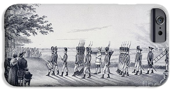 American Revolution iPhone Cases - Hale On His Way To Execution iPhone Case by British Library