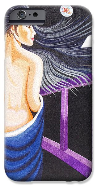 Nudes Tapestries - Textiles iPhone Cases - Hale Popp hand embroidery iPhone Case by To-Tam Gerwe