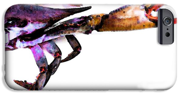 Crab iPhone Cases - Half Crab - The Right Side iPhone Case by Sharon Cummings
