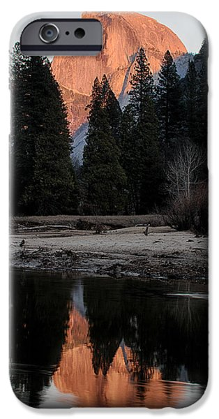 Park Scene iPhone Cases - Half Dome iPhone Case by Bill Roberts
