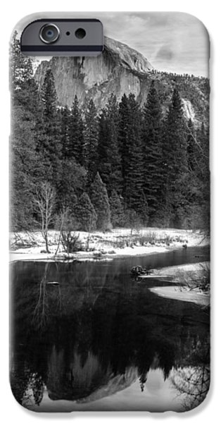 Half Dome in Winter iPhone Case by Karma Boyer