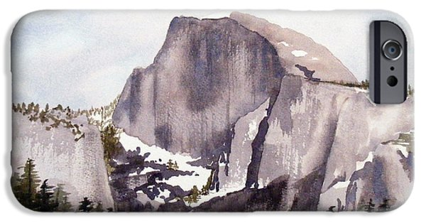 Half Dome Paintings iPhone Cases - Half Dome iPhone Case by Kari Raley