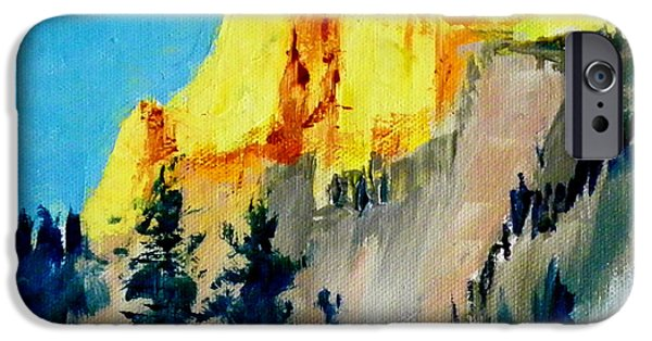 Half Dome Paintings iPhone Cases - Half Dome Light iPhone Case by Carol Bower