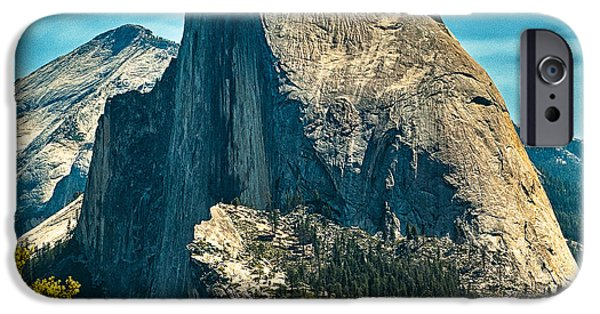 Cathedral Rock iPhone Cases - Half Dome Yosemite National Park iPhone Case by  Bob and Nadine Johnston