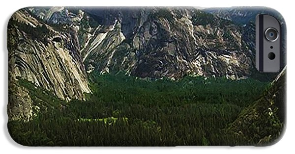 Cathedral Rock iPhone Cases - Half Dome Yosemite NP iPhone Case by  Bob and Nadine Johnston