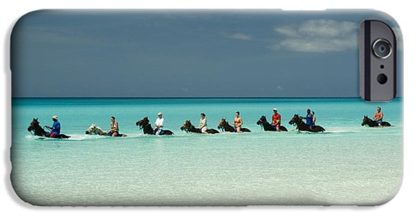 Shore Excursion iPhone Cases - Half Moon Cay Bahamas beach scene iPhone Case by David Smith