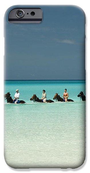 Half Moon Cay Bahamas beach scene iPhone Case by David Smith
