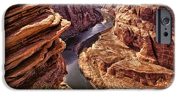 River View iPhone Cases - Half of Horshoe Bend - Page AZ iPhone Case by Jon Berghoff