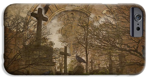Cemetary iPhone Cases - Half Past Dead iPhone Case by Jim  Hatch