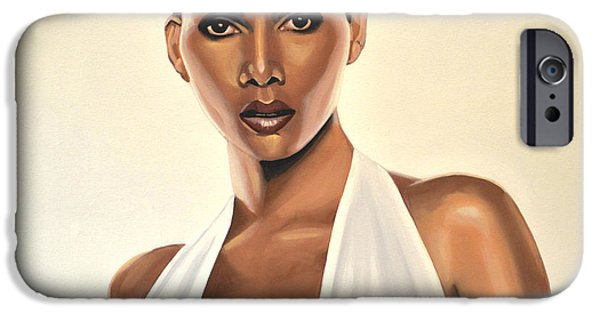 Model iPhone Cases - Halle Berry iPhone Case by Paul Meijering