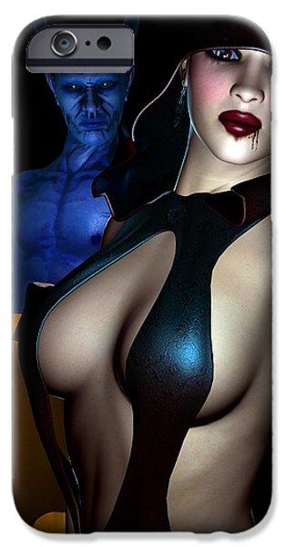 Female Body Digital Art iPhone Cases - Halloween iPhone Case by Alexander Butler