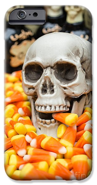 Creepy iPhone Cases - Halloween Candy Corn iPhone Case by Edward Fielding