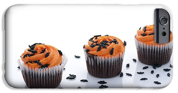 Frosting iPhone Cases - Halloween Cupcakes iPhone Case by Juli Scalzi