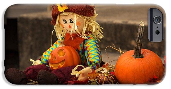 Halloween iPhone Cases - Halloween Doll iPhone Case by Iris Richardson