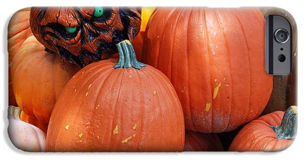 Eerie iPhone Cases - Halloween Goblin iPhone Case by Aimee L Maher Photography and Art