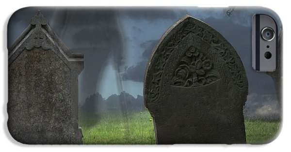 Cemetary iPhone Cases - Halloween Graveyard iPhone Case by Amanda And Christopher Elwell