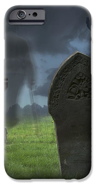 Halloween Graveyard iPhone Case by Amanda And Christopher Elwell