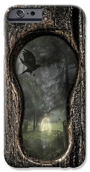 Eerie iPhone Cases - Halloween Keyhole iPhone Case by Amanda And Christopher Elwell