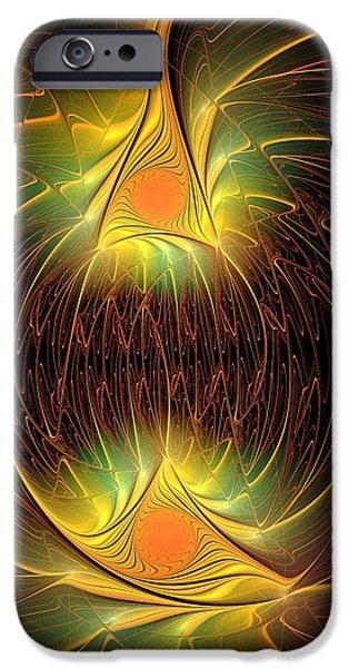 Power iPhone Cases - Halloween Lights iPhone Case by Anastasiya Malakhova