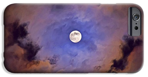 Moonscape Mixed Media iPhone Cases - Halloween moon iPhone Case by Image World