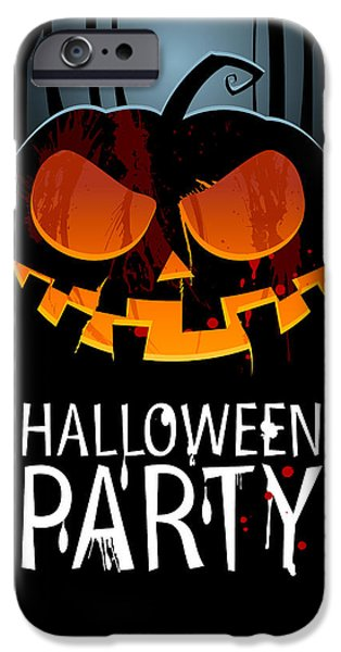 Halloween Digital iPhone Cases - Halloween Party iPhone Case by Gianfranco Weiss