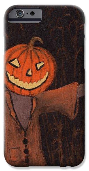 Jack iPhone Cases - Halloween Scarecrow iPhone Case by Anastasiya Malakhova