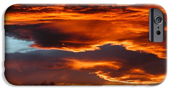 Fort Collins iPhone Cases - Halloween Sunset iPhone Case by Tim Nielsen