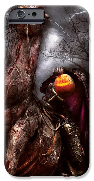 Recently Sold -  - Storm iPhone Cases - Halloween - The Headless Horseman iPhone Case by Mike Savad